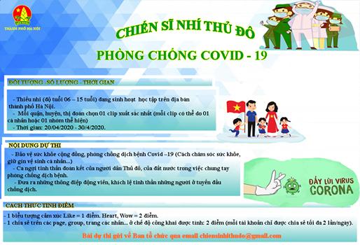 Học sinh trường THCS Nguyễn Phong Sắc chung tay đẩy lùi dịch bệnh Covid -19